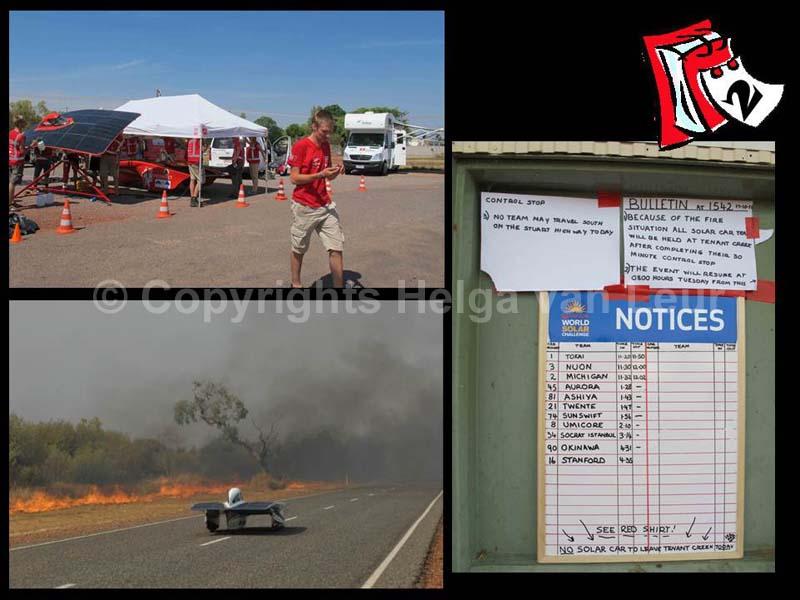 dag 2 - gestrand door bushfires